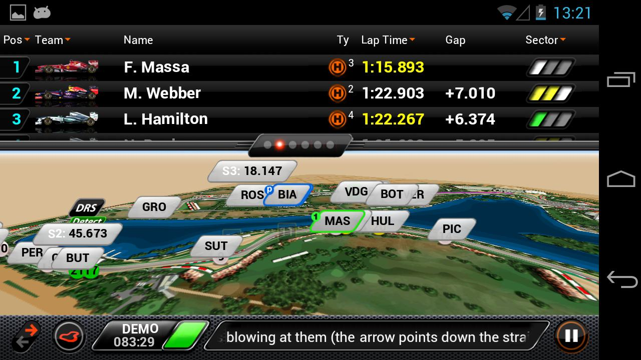 F1 2013 Timing App - Basic - screenshot