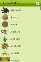 Screenshot of Ayurvedic Plants and Herbs