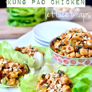 Kung Pao Chicken Lettuce Wraps.