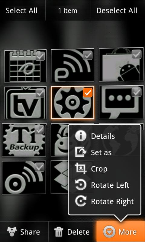 Orange Octane for CM7 - screenshot