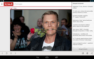 Screenshot of Lietuvos Rytas for Android tab