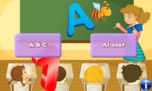 유아 및 어린이를위한 스페인어 알파벳 퍼즐