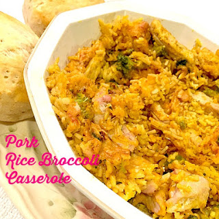 Healthy Pork Chop Rice and Broccoli #Recipe