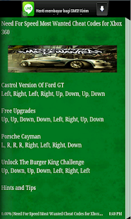 Download <b>NFS Most Wanted</b> - <b>Cheat Codes</b> Google Play softwares ...