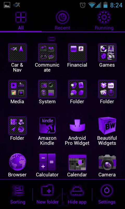 GOLauncherEx Theme DeepPurple - screenshot