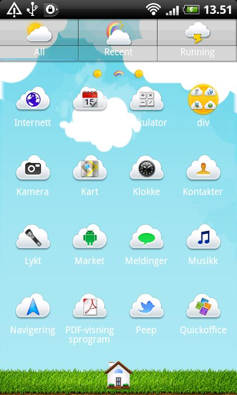 Summer Sky GO Launcher Theme - screenshot
