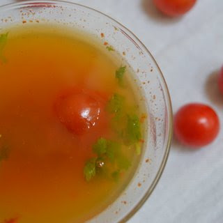 Cherry Tomato Rasam.