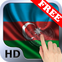 Flag of Azerbaijan wave effect icon