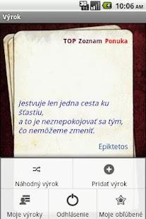 Vyroky - citaty - vyrok.sk- screenshot thumbnail