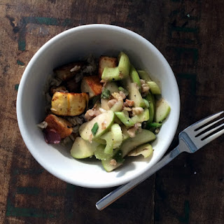 Green Apple And Celery Salad With Walnuts And Mustard Vinaigrette
