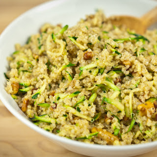 Quinoa, Zucchini and Toasted Walnut Pilaf