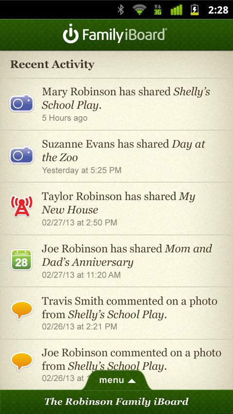 Family iBoard- screenshot