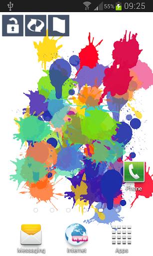 Splash Paint Live Wallpaper