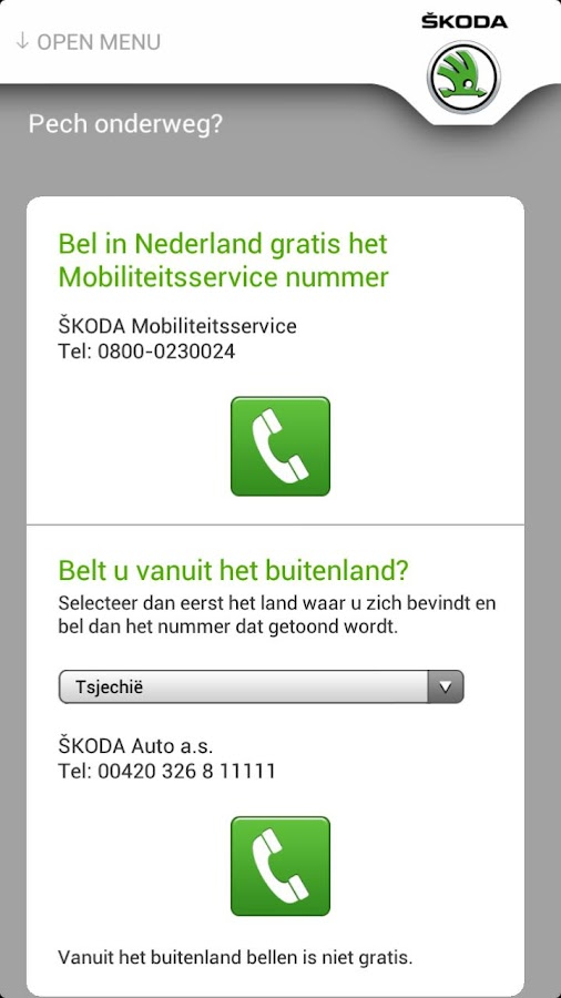 ŠKODA Service app - screenshot