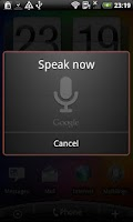 Screenshot of Multilingual Voice Search