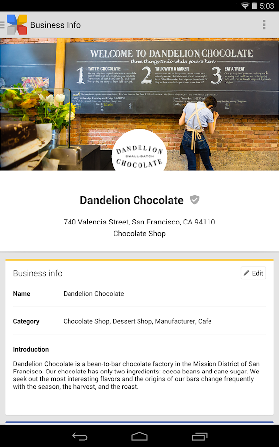 Google My Business - screenshot