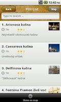 Screenshot of Olomouc Guide - OLINA