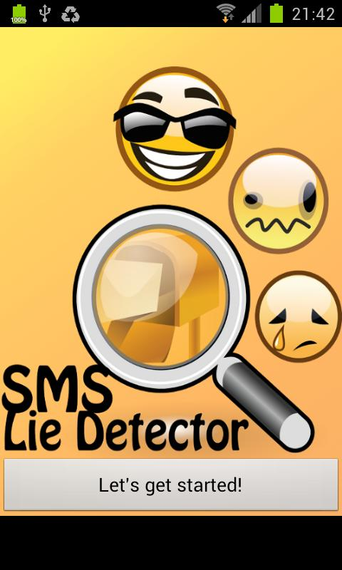 SMS Lie Detector - screenshot