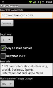 Offline Browser- screenshot thumbnail