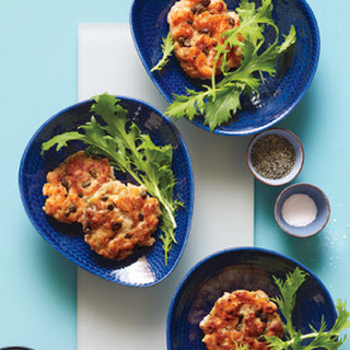 Salmon Cakes with Greens.