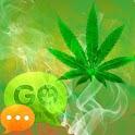 GO SMS Theme WEED GANJA logo