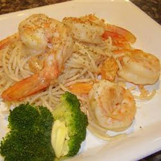 Garlic Pasta with Prawns.