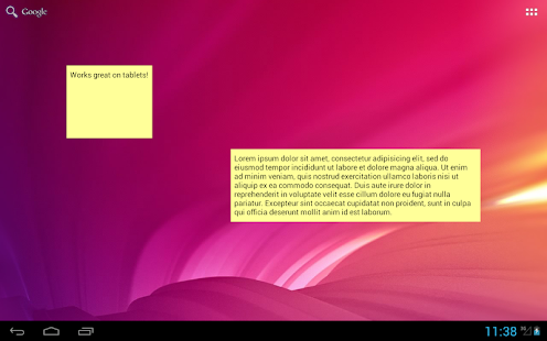 Simple Sticky Note Widget - screenshot thumbnail