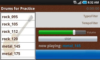 Screenshot of Drums for Practice