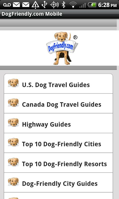 DogFriendly.com Mobile- screenshot