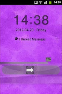 Purple Violet Theme GO Locker - screenshot thumbnail