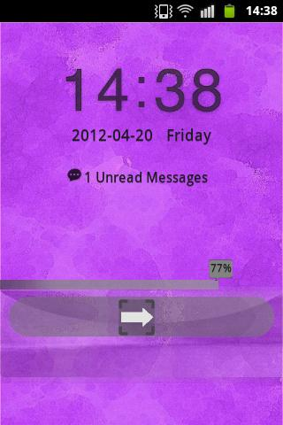 Purple Violet Theme GO Locker - screenshot