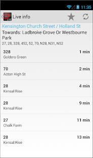 London Bus Live Countdown - screenshot thumbnail