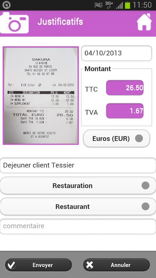 Expenses Reports Mobile- screenshot