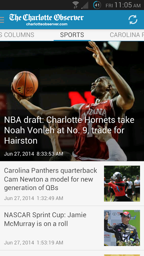 The Charlotte Observer - screenshot
