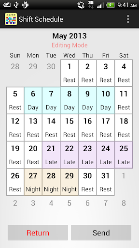 Shift Calendar (since 2013) for PC