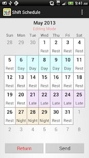 Shift Calendar / Schedule - screenshot thumbnail