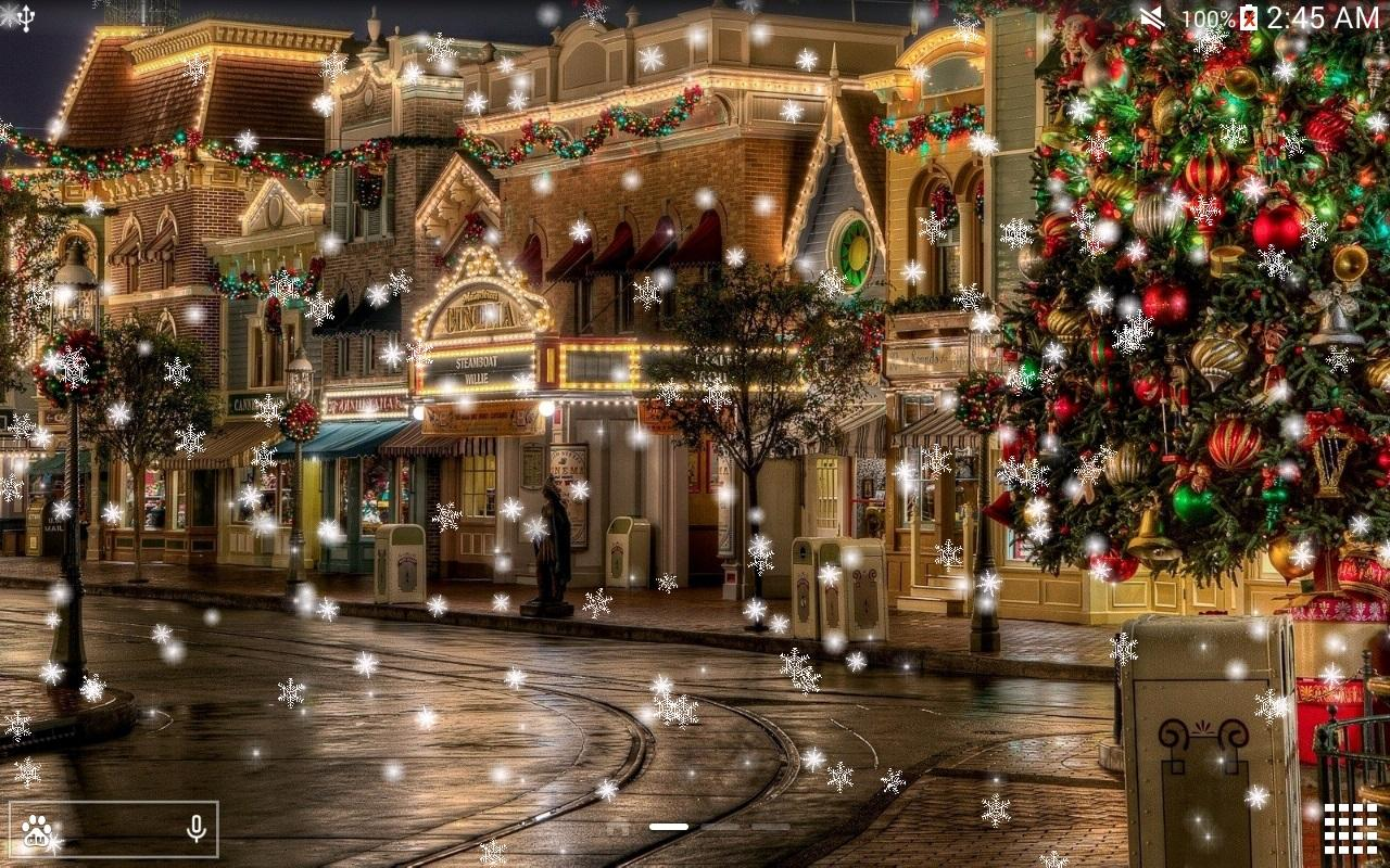 Snow Night City Live Wallpaper