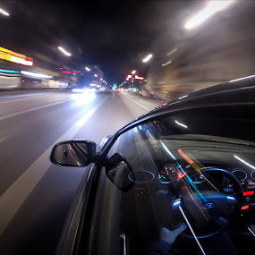 Driving motion by Eugen Chirita - City,  Street & Park  Night ( outdoor, downtown )