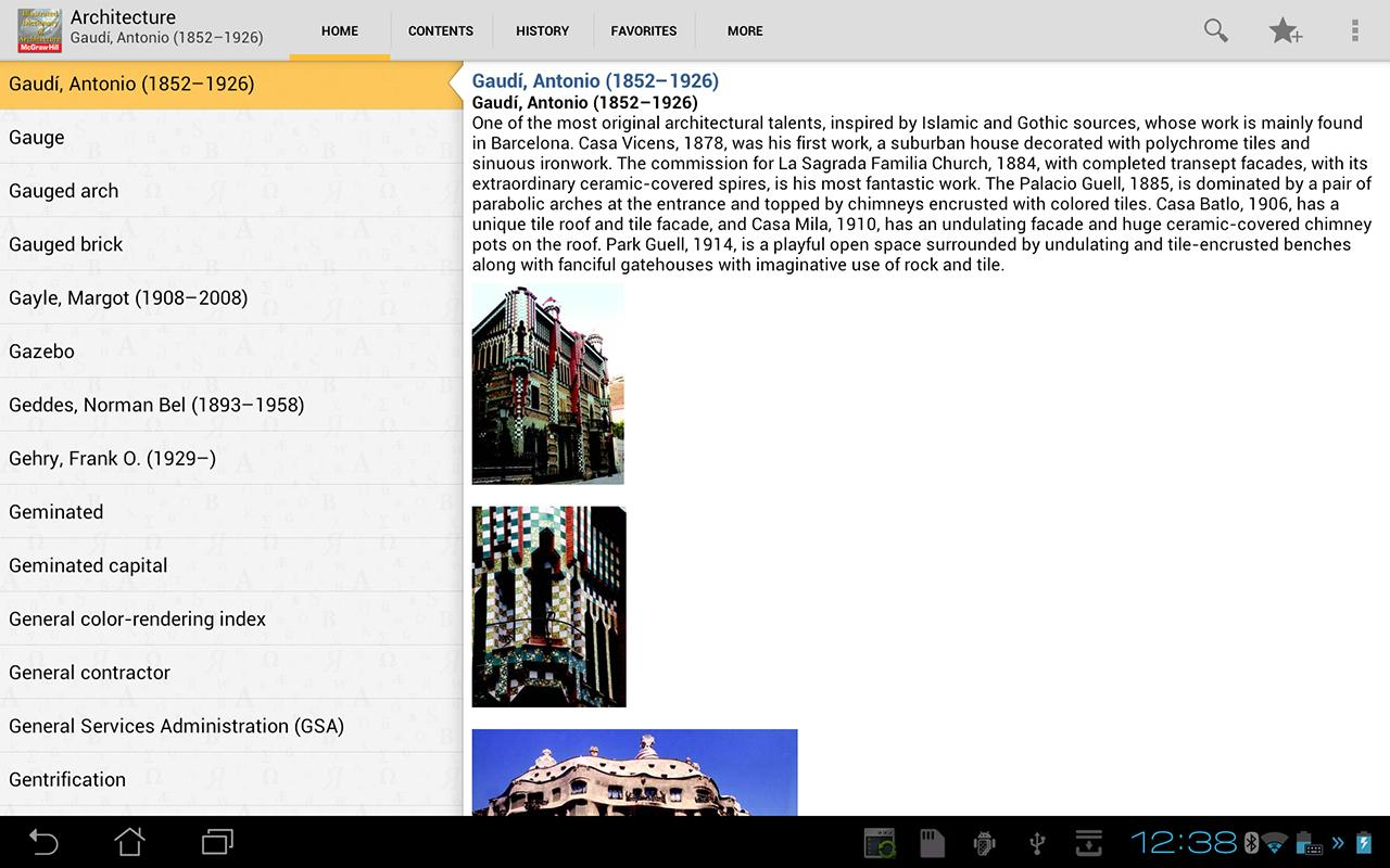 Dictionary of Architecture TR - screenshot