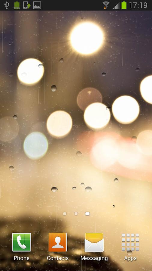 Reën op venster agtergrond screenshot