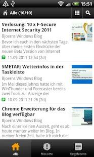 Bjoerns Windows Blog - screenshot thumbnail