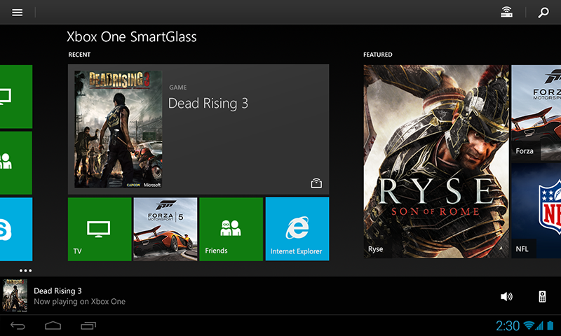 Xbox One SmartGlass Beta- screenshot