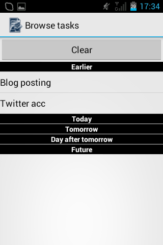 Easy To Do List Organizer - screenshot