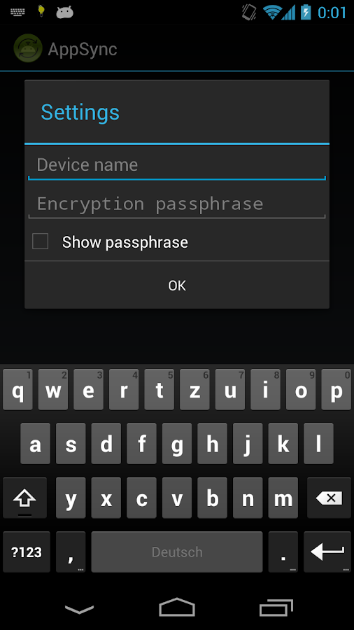 AppSync [root] - screenshot