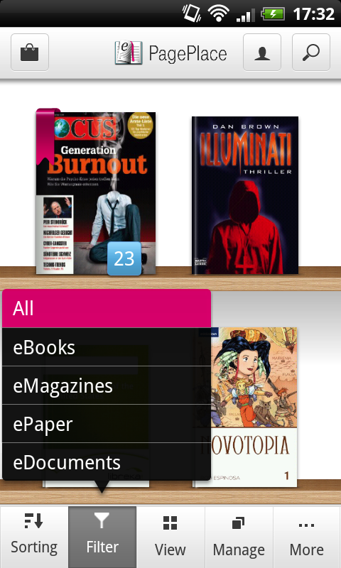 PagePlace Reader - screenshot