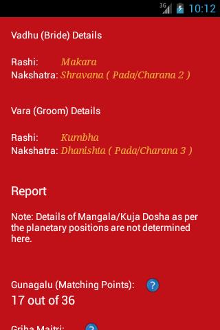 Match making by nakshatra - Horoscope matching, Marriage matching