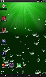 Water drops live wallpaper screenshot