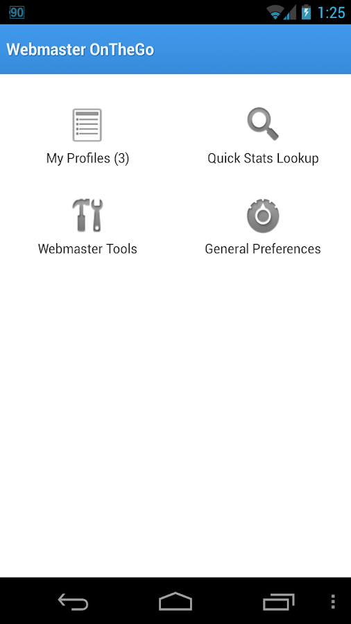Webmaster OnTheGo- screenshot