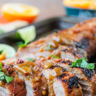 Grilled Pork Tenderloin with Peanut-Lime Sauce.