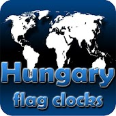 Hungary flag clocks